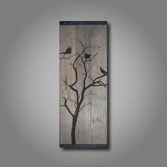 Recuperado granero madera pared Art aves en por TKreclaimedART                                                                                                                                                      Más