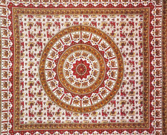 Mandala Hippy Hippie Gobelin Wandbehang Wohnheim von LavishJaipur