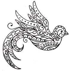 Paisley Bird Tattoo