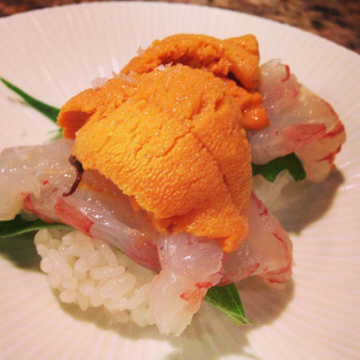 Amaebi & uni sushi from Tokkuri Tei