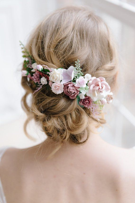 Ladies Women Dusty Pink Tone Colour Flower Hair Headband Girl Wedding Party Gift