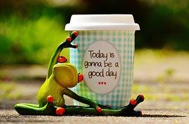 Beautiful Day, Joy, Frog, Coffee, Cup