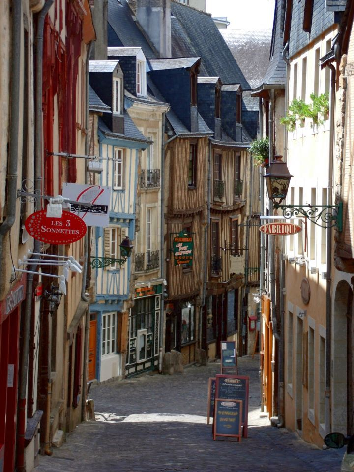 Old town center of Le Mans, France. Fantastic romantic place.
