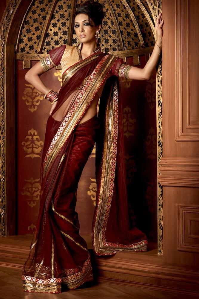 Maroon Sari #kimmie1980ca
