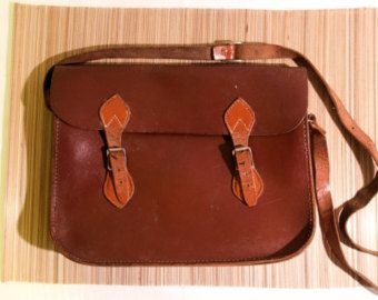 Leather Messenger Bag by BrubakerDesign on Etsy