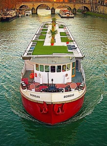 bateau boras vue arienne - Peniche Mariage Paris