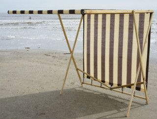 Shark Shade Portable Shade Blue and Yellow, Brown and Tan - Beach Style - Patio Furniture And Outdoor Furniture - Shark Shade LLC