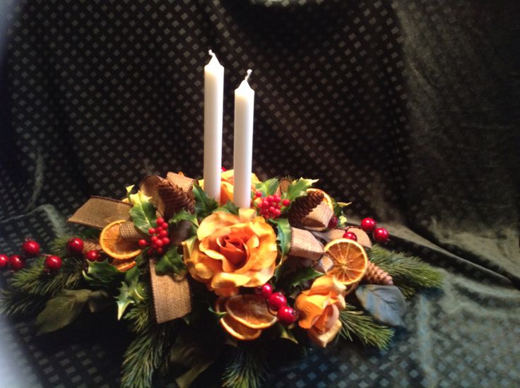 Christmas table flowers