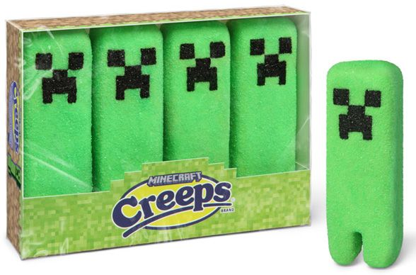 Marshmallow Creeps....even my boys would eat these because they are Minecraft like!