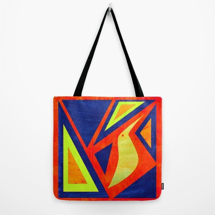 Triangles and bird Tote Bag by Inmyfantasia