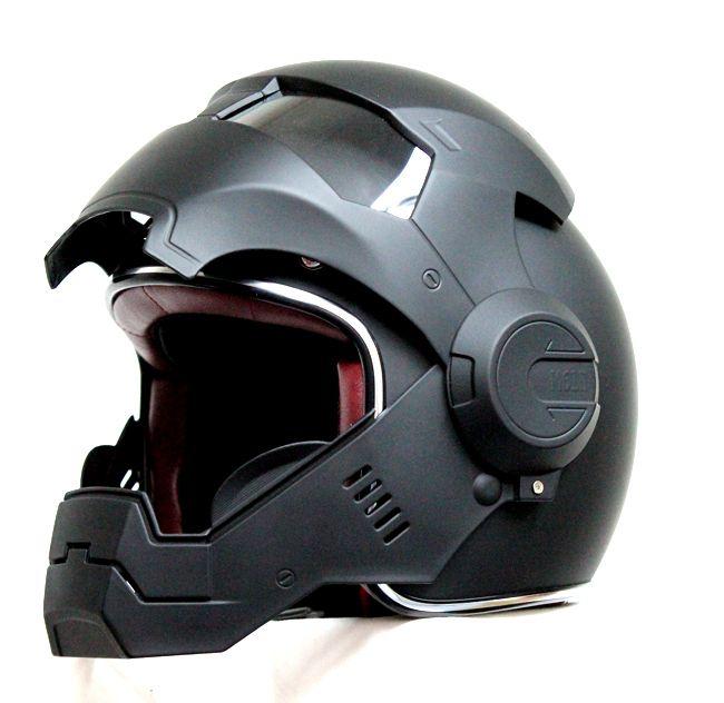 Masei ironman matte black motorcycle helmet Masei 610