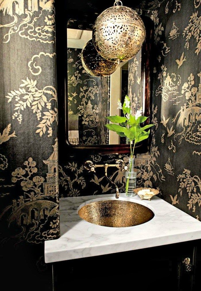 The Most Beautiful Powder Rooms Ever Powder Room Decor Gold