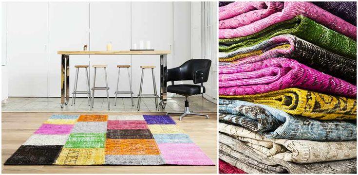 ihana monivärinen patchwork-matto   #Sukhimatot #matto #sisustus #sisustaminen