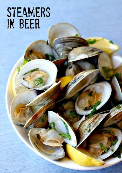 For apps or dinner, steamers in beer are healthy and delicious! No butter needed with all the flavor of the broth.