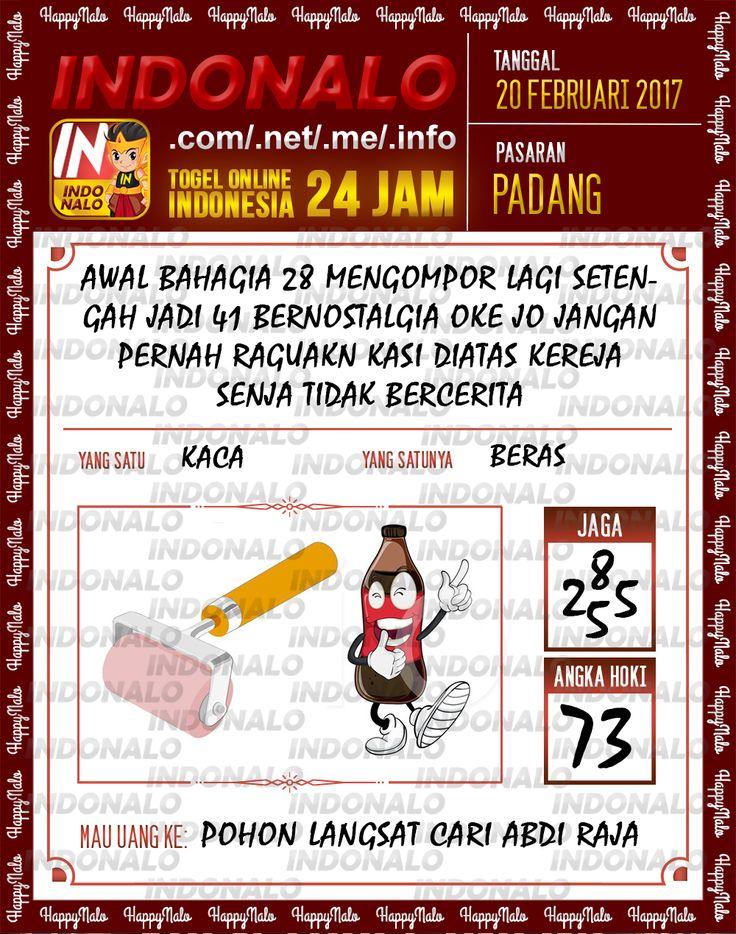 Taysen Hoki 4D Togel Wap Online Live Draw 4D Indonalo Padang 20 Febuari 2017