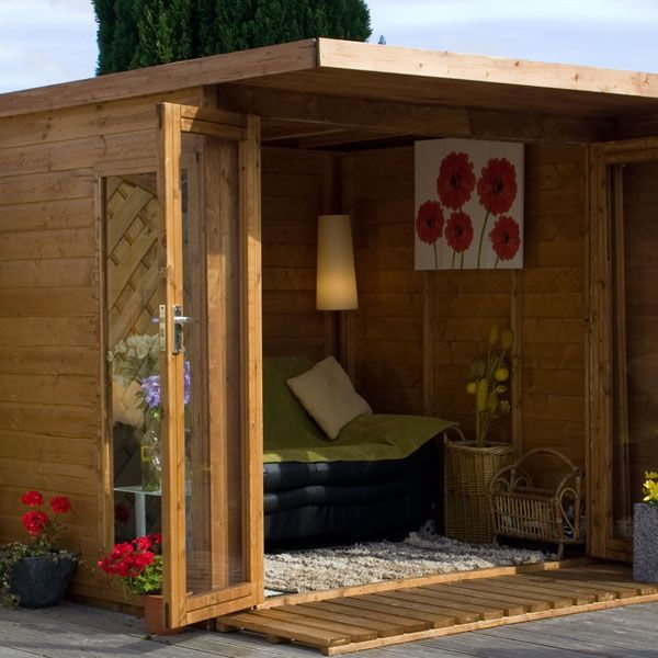 ShedsWarehouse.com | OXFORD | 10ft x 8ft Contempory Gardenroom Large Combi (12mm T&G Floor & Roof)