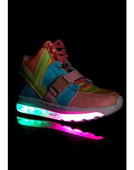 abc30522e932 Qozmo Aiire Pastel Sneakers  dollskill  rave  edm  kandi  lightup  sneakers   yru  pastel