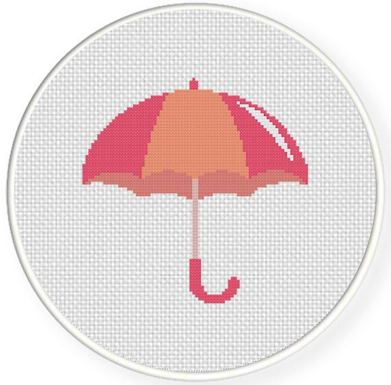 FREE for March 1st 2014 Only - Pink Umbrella Cross Stitch Pattern