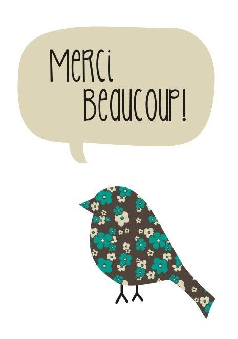 Greeting Card - 'Merci Beaucoup'. $5.00, via Etsy.