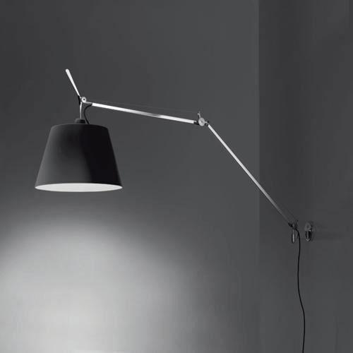 Artemide Tolomeo Mega Væglampe Sort Skærm