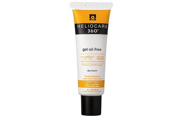 Protect oily and acne-prone skin from UVA/UVB rays, Visible Light and Infrared A-Radiation with the new Heliocare 360 Gel Oil Free SPF 50.