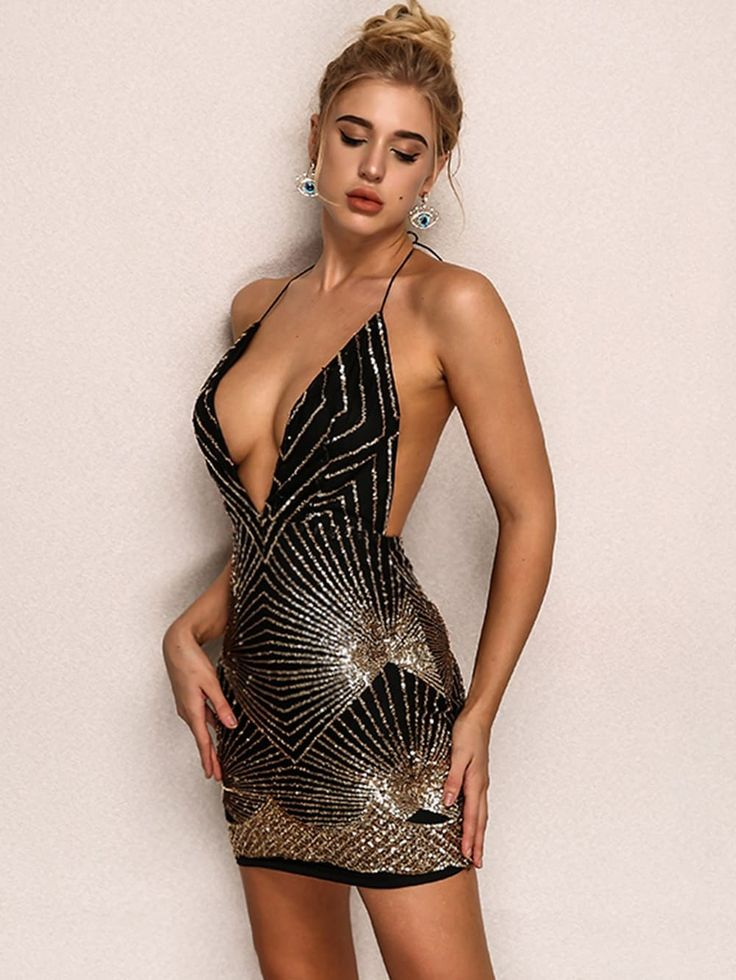 deep-plunge-sexy-dress-ebay