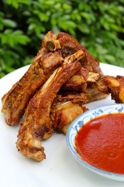 Fried pork ribs... Color me intrigued