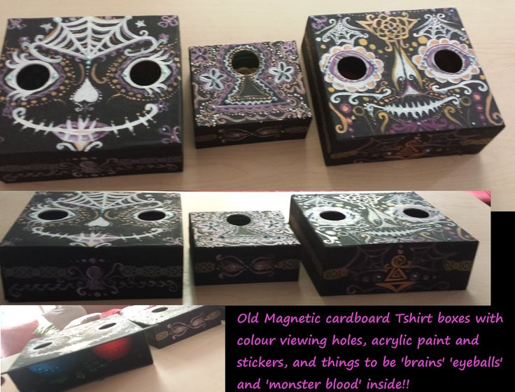 Some boxes I decorated for halloween!