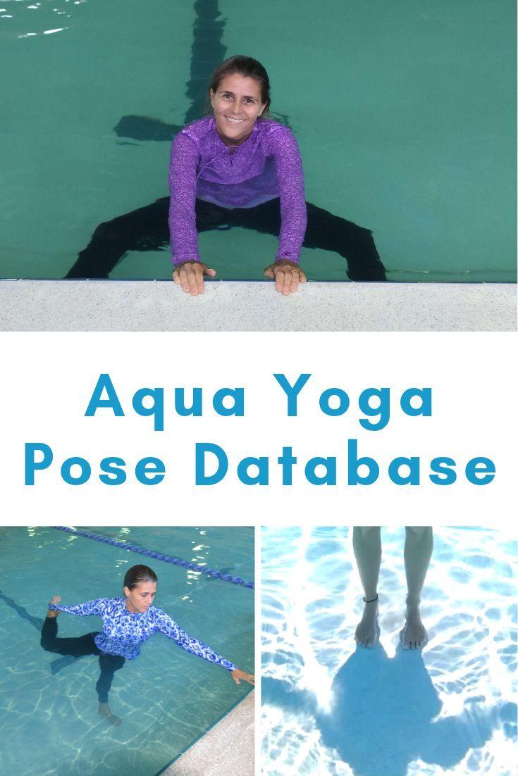 Aqua Yoga Pose Database - ChristaFairbrother  Yoga poses, Water