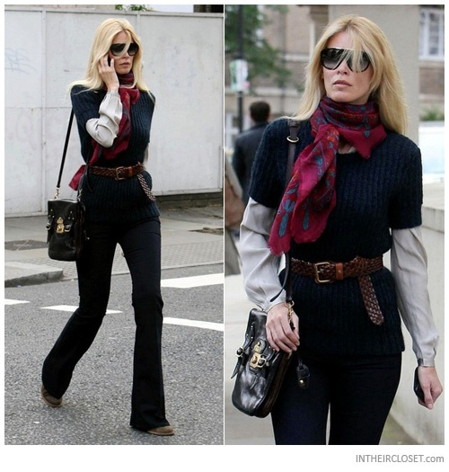 Claudia Schiffer's 70s French Chic Look