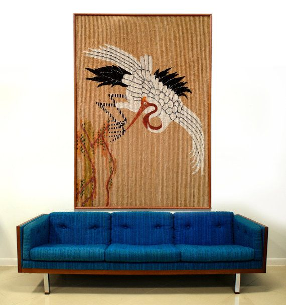 Free Shipping 6 ft Mid Century Japanese Crane by TheModernHistoric