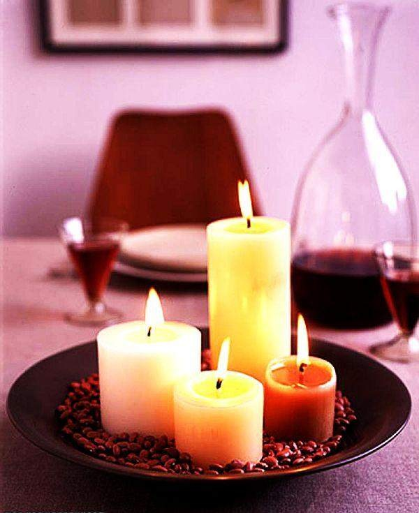 Romantic CandlesValentine'S Day, Candles Decor, Candles Lights, Coffee Beans, Candles Centerpieces, Decor Candles, Candles Fire, Calm Candles, Candles Ideas
