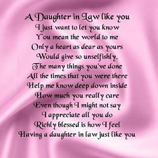 Daughter In Law Poems | Quote Addicts