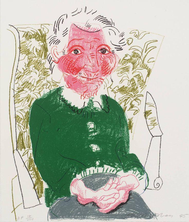 David Hockney, Portrait of Mother I, 1985