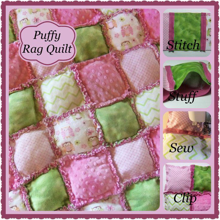 Baby Puffy Rag Quilt Easy Amp Fun Quilt Quilt Patterns