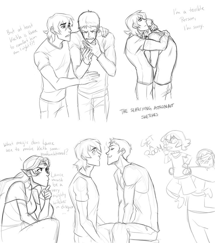 Fuck this, I woke up in the middle of the night to sketch space gays. I'm a mess.  There goes my fandom break. I am so weak… Gay Paladins made me weak.
