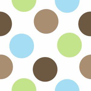 bluegreenbackground brown blue and green polka dot
