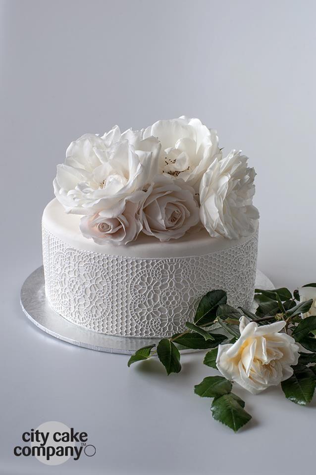 Wedding cake by City Cake Company, Mt Eden, Auckland, New Zealand www.citycake.com