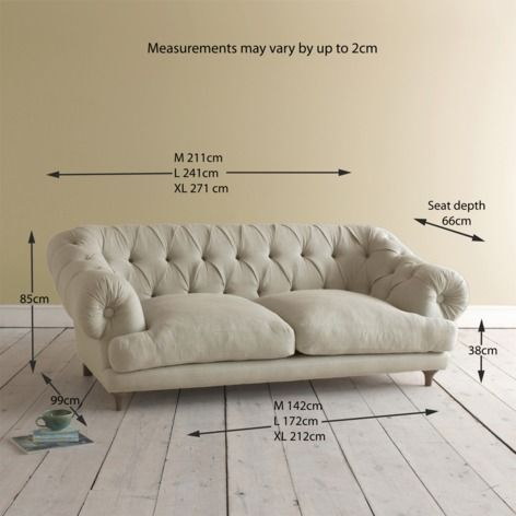 Medium Chesterfield Style Sofa | Bagsie Bagsie Sofa in thatch house fabric - Sofas | Loaf