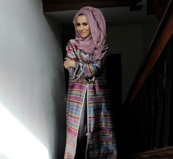 Dina Tokio w long coat. #hijab