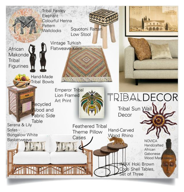 Tribal Living by lidage on Polyvore featuring interior, interiors, interior design, home, home decor, interior decorating, Serena & Lily, Dot & Bo, NOVICA and tribaldecor