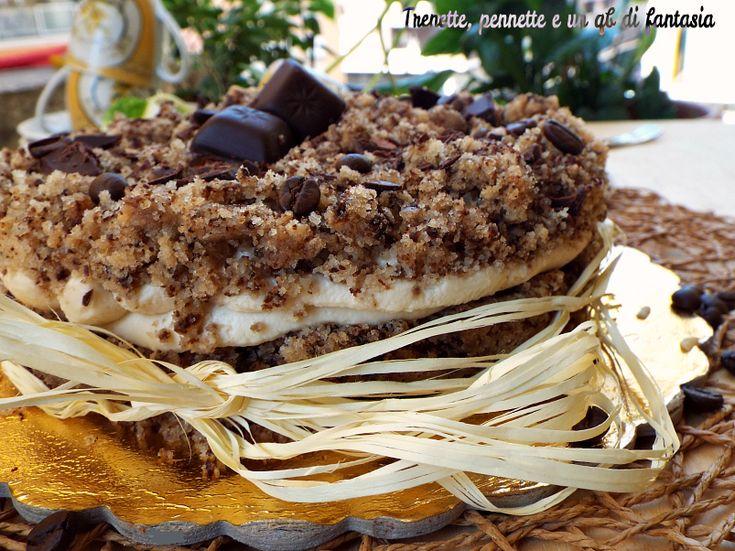 Torta Tiramisù...senza uova e burro...dolce fresco e gustoso, preparato in modo semplicissimo. La Torta al tiramisù...senza uova e burro e nata cosi per cas