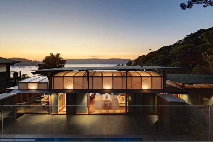 Pittwater Bay House in Sydney by Fergus Scott Architects and Peter Stutchbury Architecture