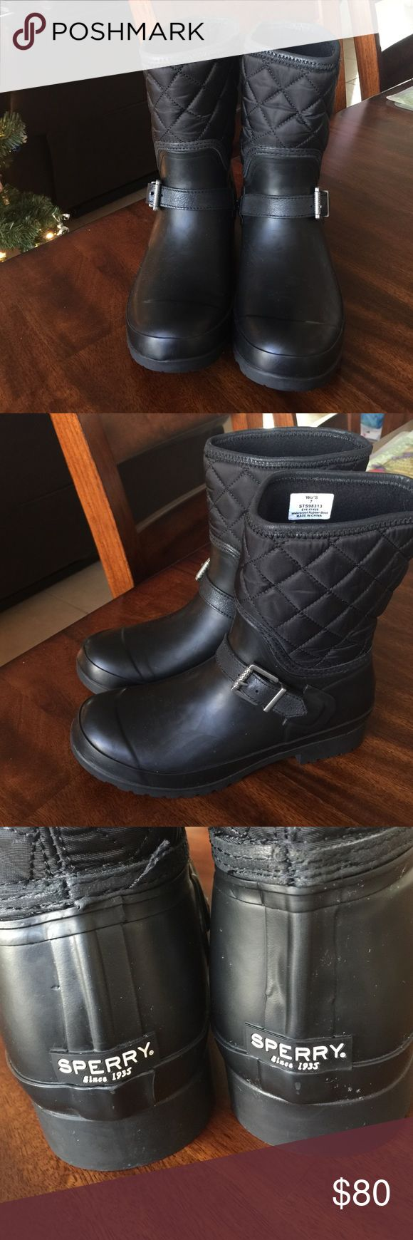 Sperry Top Sider Black Sperry Boots Sperry Shoes Winter & Rain Boots