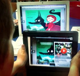 Van Meter Library Voice: Our First Augmented Reality Scavenger Hunt Through A Fairy Tale eBook With The Second Graders