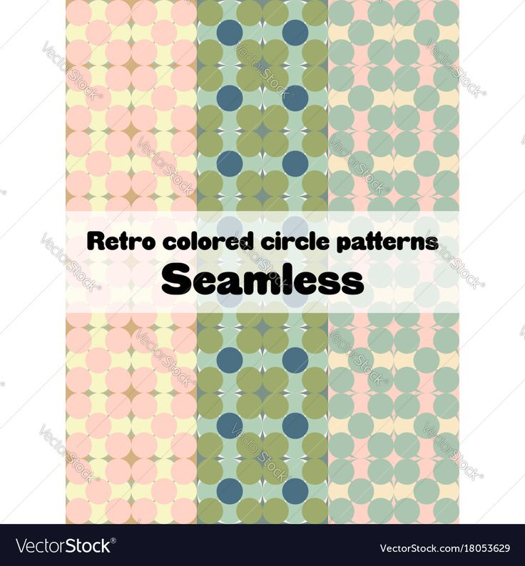 A retro circle pattern set. Download a Free Preview or High Quality Adobe Illustrator Ai, EPS, PDF and High Resolution JPEG versions.