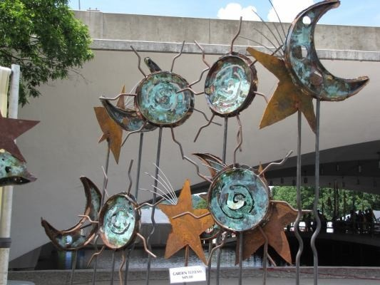 Tom Bland Metal Artist's work at Pittsburgh Arts Festival