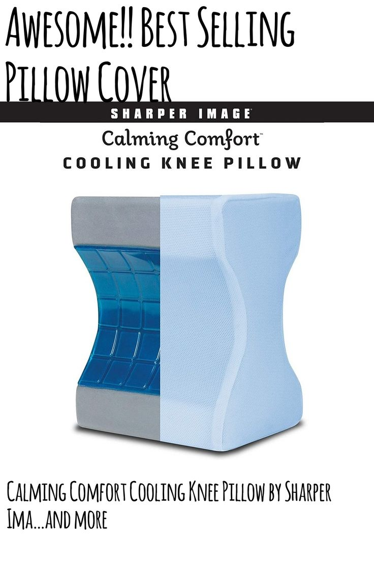 Calming Comfort Cooling Knee Pillow By Sharper Image Charcoal Infused Memory Foam With Cooling Knee Pillow Pillow Covers Pillows