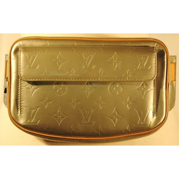 Louis Vuitton 1999 Fulton Silver Vernis Waist Belt Fanny Pack ❤ liked on Polyvore featuring bags, waist bag, waist pack bag, fanny bag, hip fanny pack and belt fanny pack