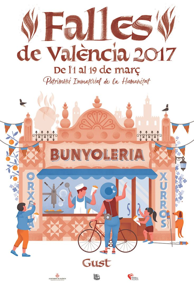 'Taste': Falles de València 2017 poster by Luis Demano (illustration) and Joan Quirós (lettering)